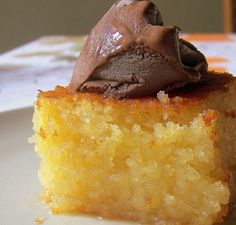 Cake Recipes : Very light, very tasty Revani, Greek Sweets, Greek Desserts, Greek Recipes, Desert Recipes, Sweets Recipes, Cake Recipes, Cooking Recipes, Greek Cake, Greek Pastries