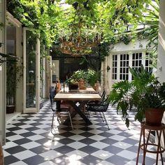 Backyard Vegetable Gardens, Vegetable Garden Design, Outdoor Rooms, Outdoor Decor, Outdoor Patios, Outdoor Kitchens, Outdoor Sheds, Indoor Outdoor Living, Outdoor Tiles