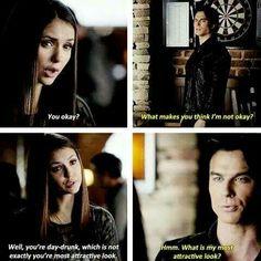The vampire diaries , Damon being Damon eternal stuf