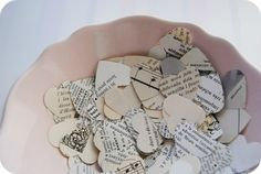 Alternative to Throwing Leaves - Paper Heart Confetti - Etsy:  LaCasetaDePaper