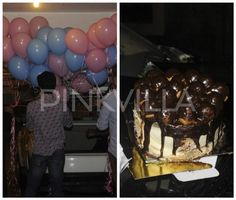 The Kapoor clan celebrate Kareena's birthday with pink-blue balloons & a yummy chocolate cake!
