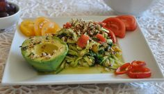 Spaghetti Zucchini with Basil Sauce (cooked version)