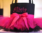 Lime Green & Pink Tutu Bag. $32.00, via Etsy.