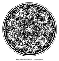 Mandalas For Coloring Book Decorative Round Ornaments Unusual Flower Shape Oriental Vector Anti Stress Therapy Patterns Weave Design Elements
