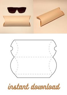 Diy Gift Box Template, Pillow Box Template, Paper Box Template, Cardboard Gift Boxes, Cardboard Packaging, Paper Gift Box, Creative Christmas Gifts, Origami Envelope, Paper Flowers Craft