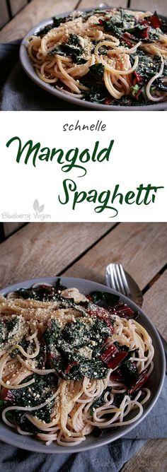 Schnelle Mangold Spaghetti vegan