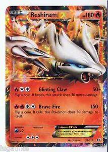 Pokemon Card Legendary Treasures Rare Holo Reshiram EX 29/113 FREE COMB S&H