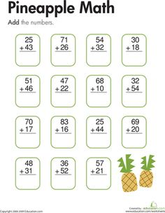 Kids solve addition problems with two-digit addends and no regrouping on this second grade math worksheet. Addition And Subtraction Worksheets, 2nd Grade Math Worksheets, Math Addition, Calendar Worksheets, Writing Worksheets, Kindergarten Math, Teaching Math, Teaching Geography, Math 2