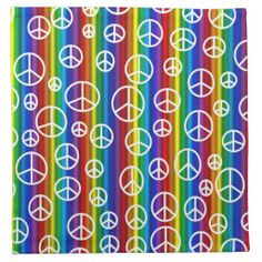 Peace Signs Bubbles Cloth Napkins