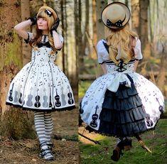 Angelic Pretty Dress, Angelic Pretty Socks, Emily Temple Cute Hat - Violin on the hill - Laura Dambremont