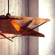 Beautiful Wood Pendant Light   Modern Chandelier Lighting   Hanging Dining Lamp    Ceiling Light Fixture   Geometric Lamp   Minimal   Contemporary Good Ideas