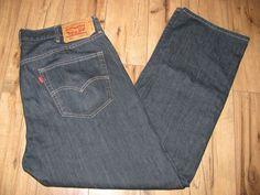 Levis 501 Mens Levi Blue Jeans 40 X 32 Button Fly Original Fit #Levis #OriginalFit
