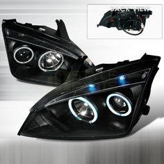 SpecD Tuning 20052007 Ford Focus CCFL Halo Projector Headlights Black -- Read more at the image link. (It is an affiliate link and I receive commission through sales)