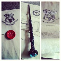 A beautiful birthday present- including my Hogwarts acceptance letter, my train ticket, a letter from the Ministry AND my very own handmade wand. Completely worth a 2 month wait! :]