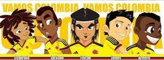 jugadores (players) seleccion colombia de fútbol (soccer players)