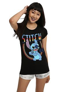 Disney Lilo   Stitch Retro 626 Girls T-Shirt 34586da2c