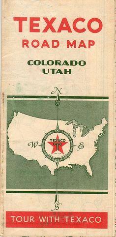 1932 Texaco Road Map