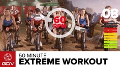 Extreme Fat Burning Workout - 50 Minute Indoor Cycling Class-computer voice