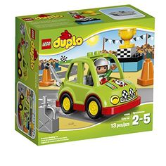 Get behind the wheel of the LEGO DUPLO Rally Car! Work on the engine with the adjustable wrench. Then practice weaving through the cones and speed away to collect the trophy! Little speedsters will lo...