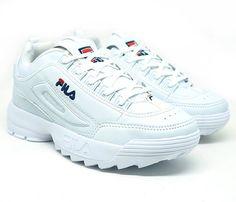cadd498b3e3 Tênis Feminino Fila Disruptor II Branco Tenis Estilosos Femininos
