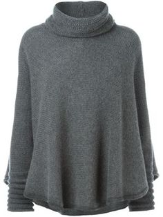 high neck cape style sweater