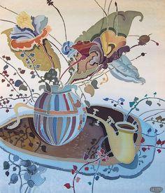 Art of Silk Painting by Irina Dorofeeva | Still Life
