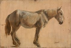 Jacques-Laurent Agasse Study of a Grey Horse, c. 1800 Oil on paper