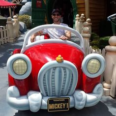 #tbt to the time I checked out Mickey's sweet ride.  I asked him how much horsepower it was making but he refused to say!  #disneyland #california #iswearidontalwaysthinkaboutcars by drew_kenney