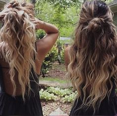 Always Dolled Up: Do's and Don'ts for the Half Up Hair Trend - Looking for Hair Extensions to refresh your hair look instantly? KINGHAIR® only focus on premium quality remy clip in hair. Visit - - for more details Messy Hairstyles, Pretty Hairstyles, Hairstyle Ideas, Natural Wavy Hairstyles, Evening Hairstyles, Beach Hairstyles, Hairstyle Men, Formal Hairstyles, Wedding Hairstyles