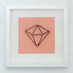 Cadre forme géométrique by Bluey Creation