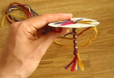 friendship bracelets made easy - great idea!  I taught these to some young friends (under 9) and they worked out great!  So easy, cheap and cute.