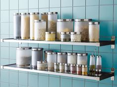 Pantry Storage Solutions featuring the DROPPAR canisters @Debbie Brookshire Goodner Housekeeping.com