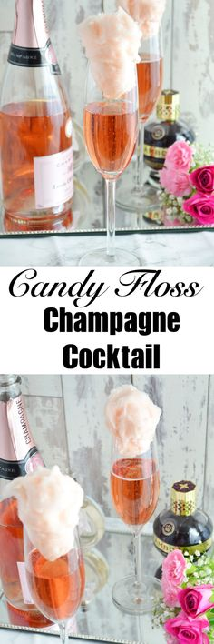 Candy Floss Champagne Cocktails - Happiness is homemade