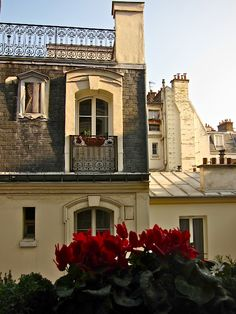 I want to live here, in Paris Beautiful Paris, Most Beautiful Cities, Paris Buildings, Paris Balcony, Paris Flat, Paris Rooftops, Ivy House, Paris City, Paris Apartments