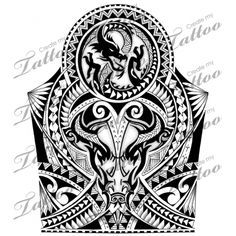 Polynesian/Maori shoulder-half sleeve Tattoo