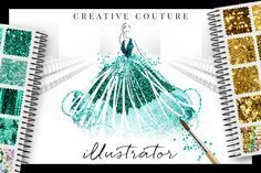 Glittery Styles: Creative Couture Ai by Creators Couture on Creative Market