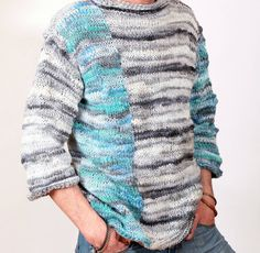 Oversized sweater Slouchy Bulky knit sweater от YarnAndBeadsDesign