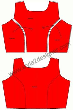 Take front bodice centre part and place the left side part by facing right sides together and sew to join the two parts and repeat again with the right side part. Dress Sewing Patterns, Clothing Patterns, Princess Cut Blouse Design, Blouse Tutorial, Zipper Tutorial, Sewing Collars, Bodice Pattern, Collar Pattern, Sewing Blouses