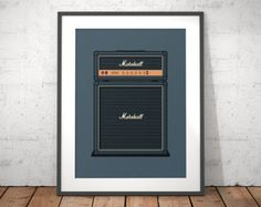 Hiwatt guitar amp poster by VectorDreams on Etsy