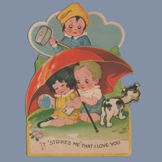 Love is swell until you're bludgeoned to death by a psycho jealous ex. | 27 Weird And Creepy Vintage Valentine's Day Cards