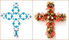 FREE RAW Beaded Cross Pendant Pattern featured in recent Bead-Patterns.com Newsletter!