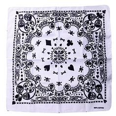 HDE 100% Cotton Bandana - Black & White Paisley Skulls Print HDE http://www.amazon.com/dp/B00FDXKJS2/ref=cm_sw_r_pi_dp_yz9uwb1C84GQQ