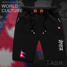 16102158bf Nepal NPL mens shorts beach man men's board shorts flag workout zipper  pocket sweat bodybuilding 2017