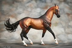 Breyer CL Kelso; customized and painted by Emilia Kurila