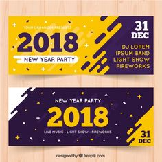 Modern Banner for the New Year 2018 - Communication & Gr .- Moderne Banner für das neue Jahr 2018 – Communication & Graphic Design – Modern Banner for the New Year 2018 – Communication & Graphic Design – - Design Stand, Graphisches Design, Vector Design, Booth Design, Design Templates, Ticket Design, Poster Design, Graphic Design Posters, Banner Design Inspiration