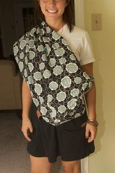 Diy reversable baby sling carrier