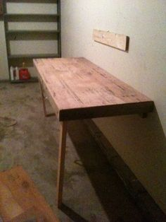 Fold-away workbench... genius!