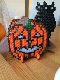 Bügelperlen - Serviettenhalter für Halloween