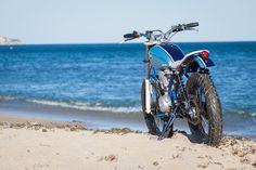 "C59R Cafe Racer Motorcycles: Yamaha SR250 ""Little Blue"""