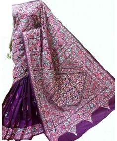 b88bcd50849 32 Best Kantha work sarees images